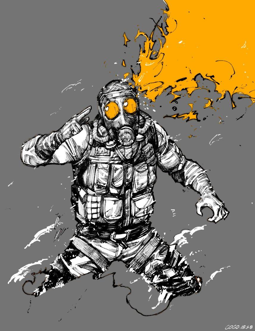 Smoke by meatgogimeat on Twitter 일러스트레이션, 캐릭터 아트, 그림