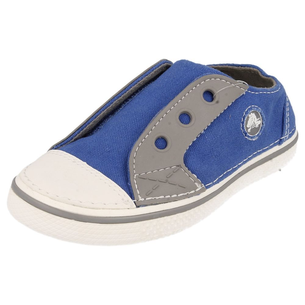 e45128393919 CHILDREN CROCS SHOES SEA BLUE  SMOKE CANVAS STYLE - HOVER HOOK -LOOP SNEAKER