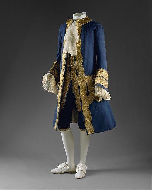 Suit (image 1) | British | 1760 | wool, gilt metal | Metropolitan Museum of Art | Accession Number: 1996.117a–c