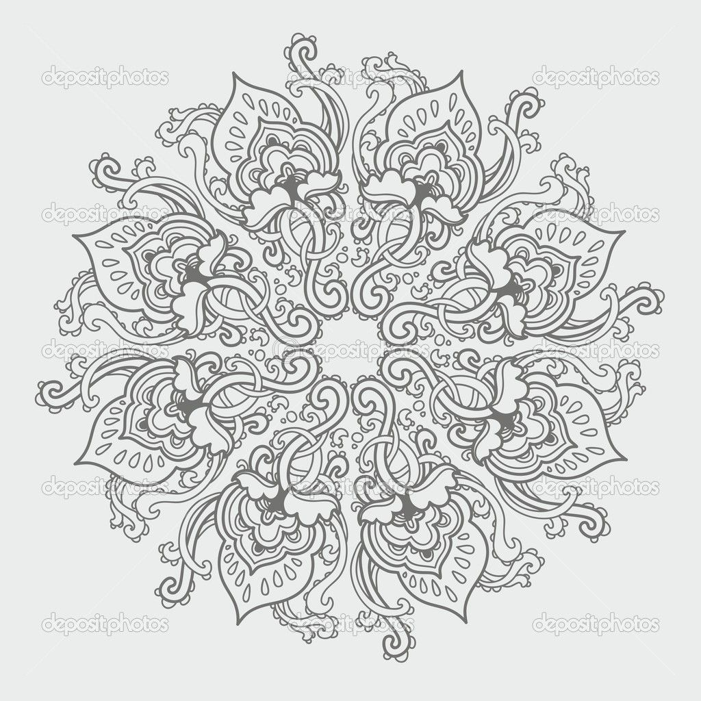 Advanced Coloring Pages for Adults | Ornamental round floral lace ...