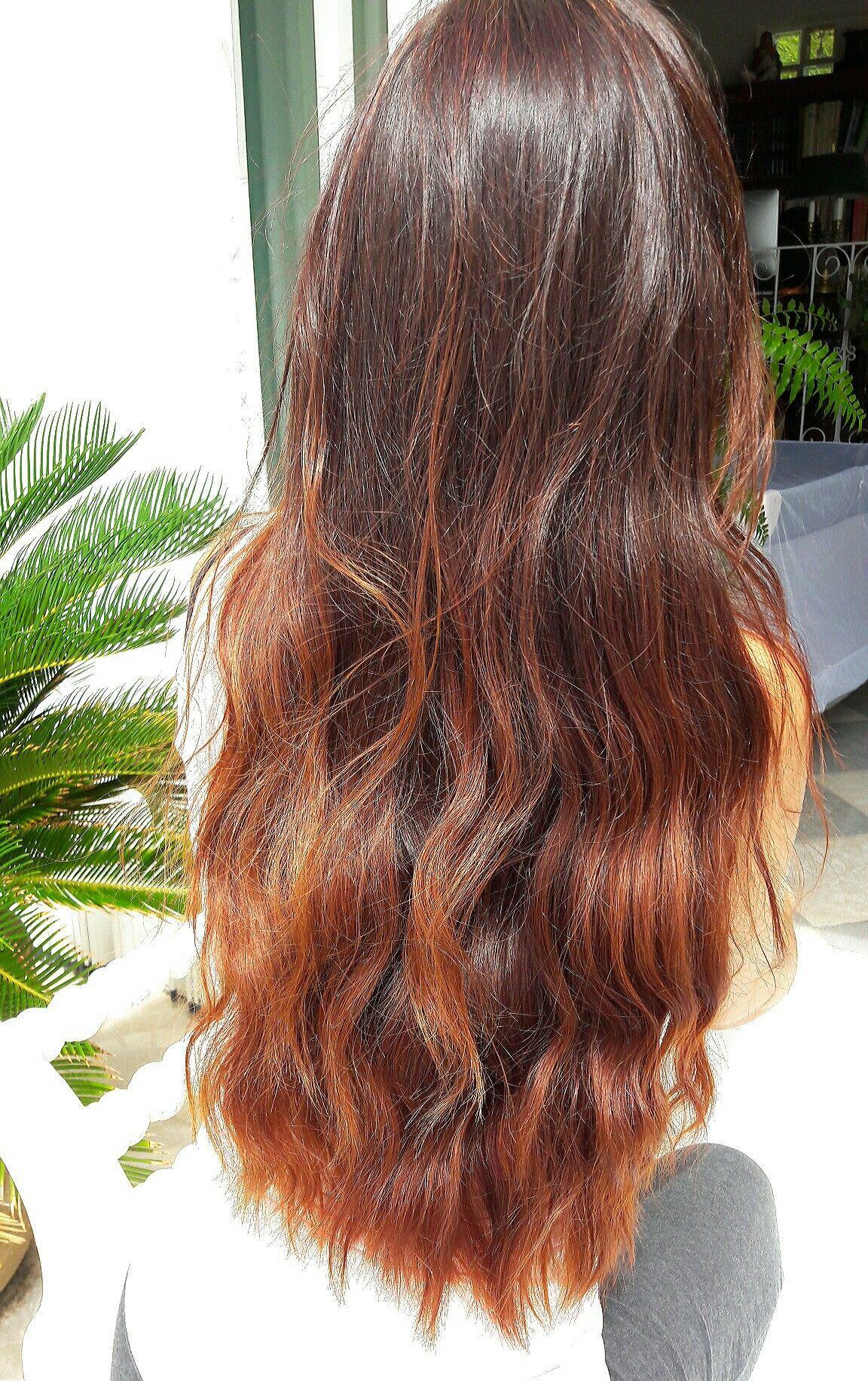 Longhair Ombre Copper Henna Brown Honey Hair Hair Ombre