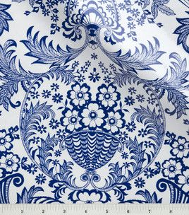 Oilcloth Eden Paisley Navy Blue Fabric At Joann Com Threads To
