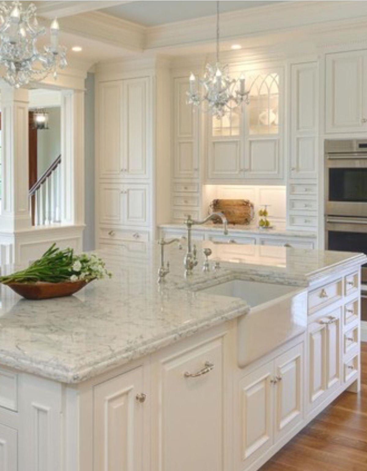 Two window kitchen design  pin by linda chagnon on maison  pinterest  kitchens beautiful