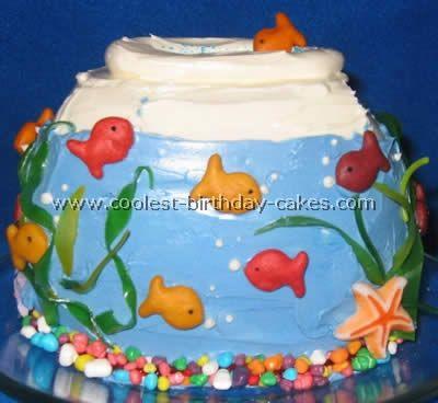 Coolest Aquarium and Fish Birthday Cake Ideas Aquarium cake Fish