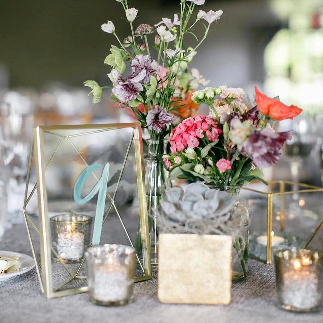 """1,701 Likes, 14 Comments - WeddingWire (@weddingwire) on Instagram: """"We've got a thing for gold metallic details mixed with eclectic vibes, and this table number and…"""""""