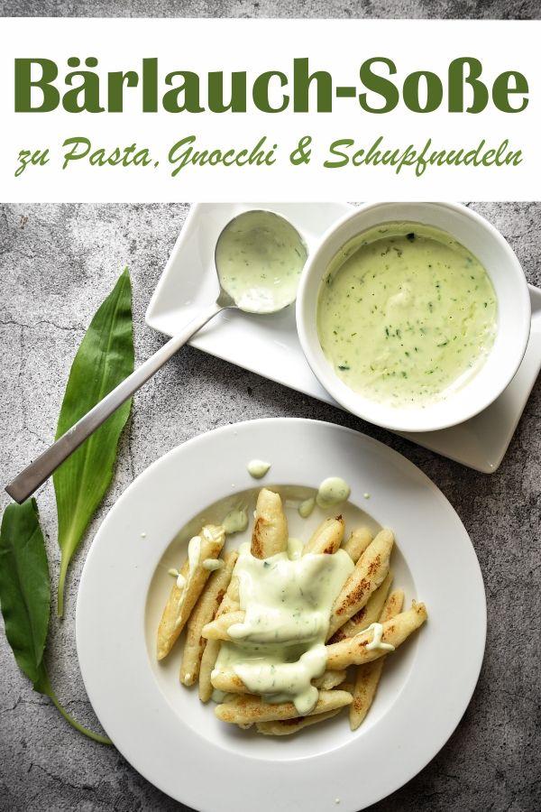 Bärlauch-Soße. Zu Pasta, Gnocchi oder Schupfnudeln.