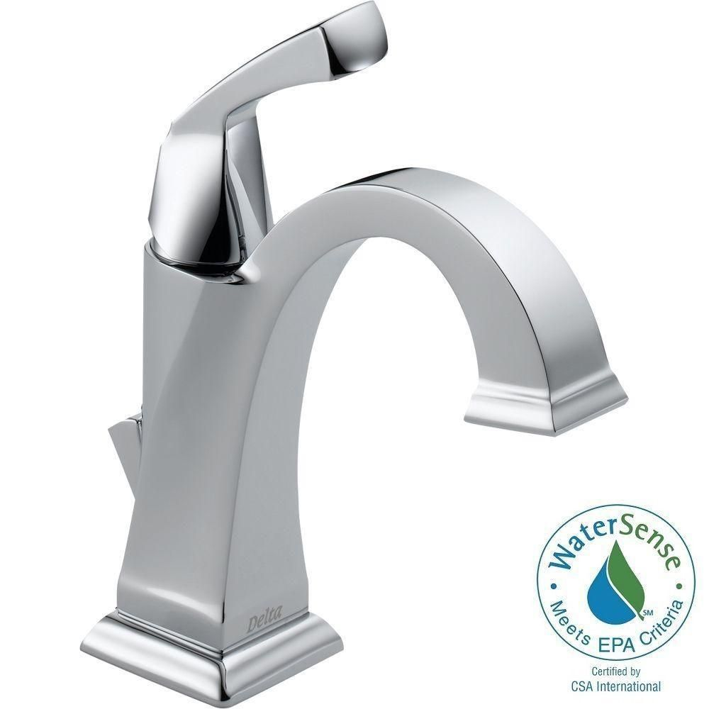 Delta Dryden Single Hole Single Handle Bathroom Faucet With Metal Drain Assembly In Chrome 551 Dst The Home Depot Single Handle Bathroom Faucet Delta Dryden Bathroom Faucets [ 1000 x 1000 Pixel ]
