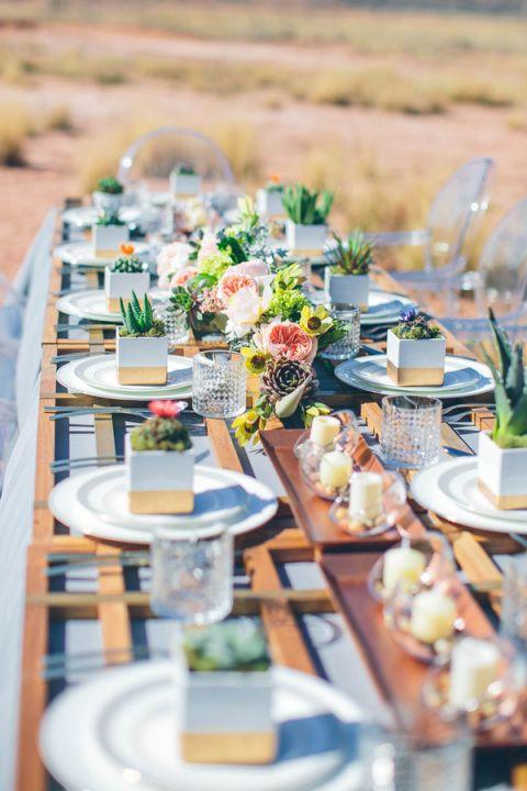 Decoration table plante on aime centre de table - Table plante ...