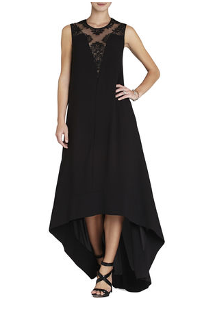 Look at this BCBG high/low dress with lace.... Gonna post the back too! This could be GORGEOUS!!!