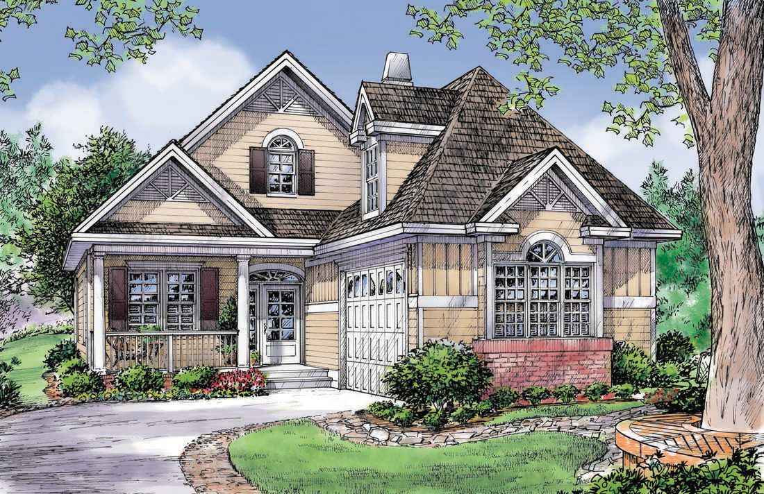 This one is only 37 wide-- could you do a front garage? The floor plan is around 1600 sq ft w/ good storage and an optional bonus// The Guthrie House Plan