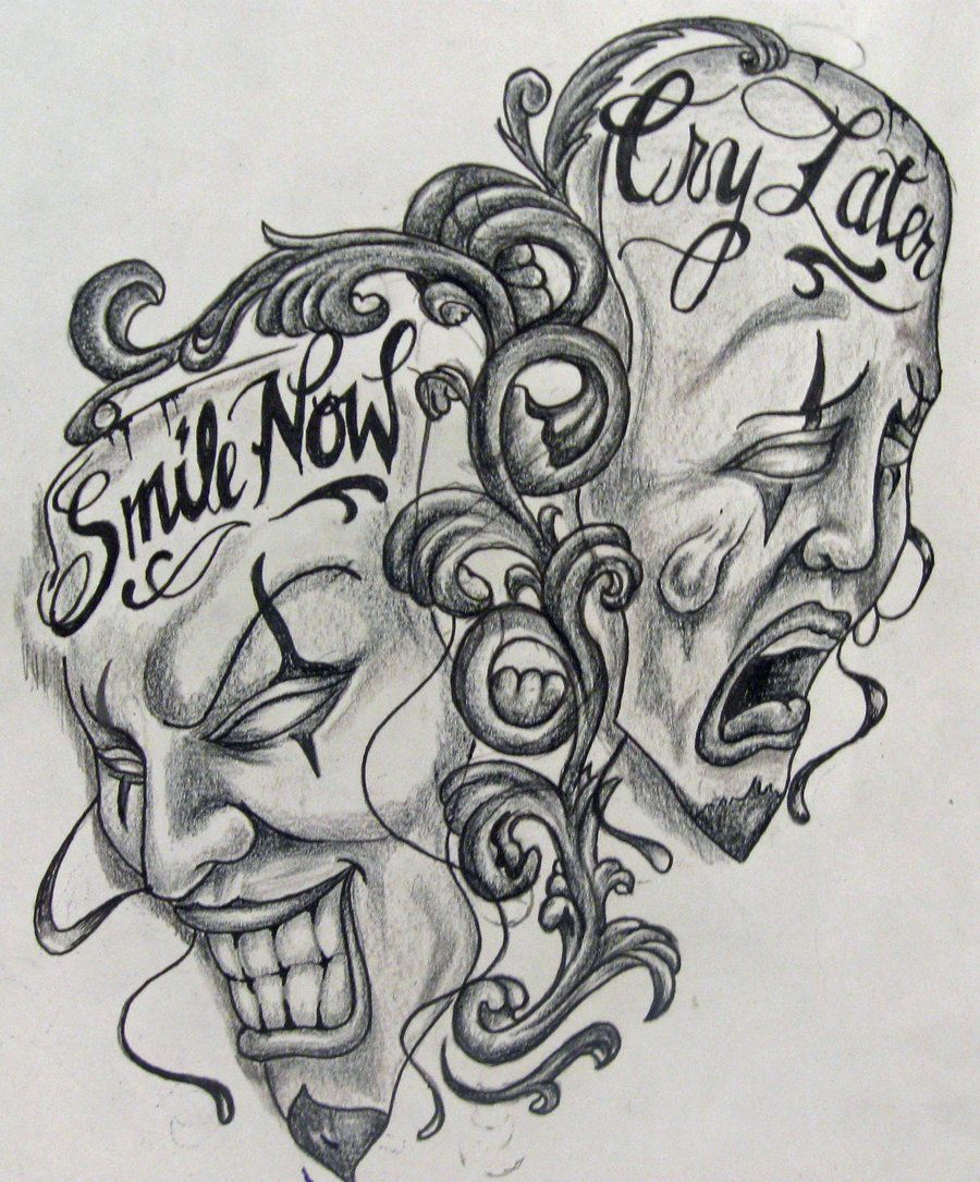 Download Free Laugh Now Smile Cry Later Evil Satan Skulls Tattoo To