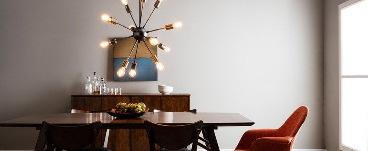 Mid-Century Modern Dining Room Sputnik Chandelier