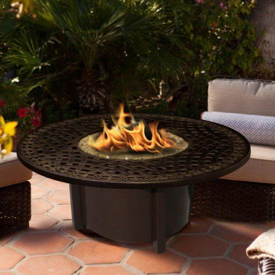 Uniflame Grey Slate Top 41 In Fire Table With Free Cover