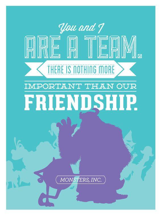 Disney Friendship Quotes Disney   Monsters, Inc.