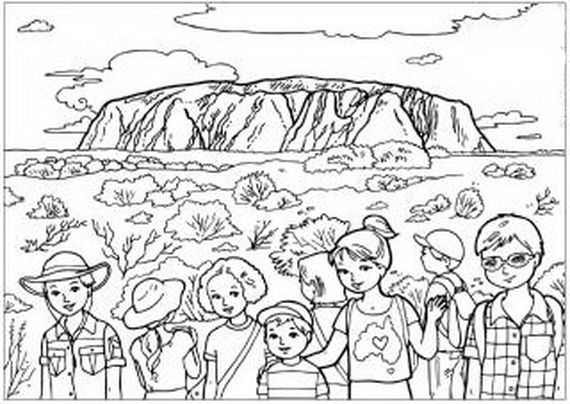 Australia Day Coloring Pages For Kids January Pinterest
