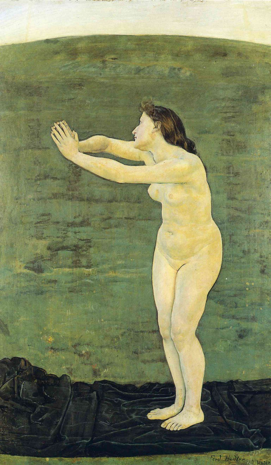 Print Ferdinand Hodler Swiss Symbolism Landscape 4 Communication With Infinite