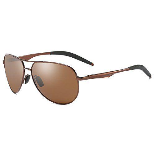 536093f88fa ZHILE Sunglasses Aviator Polarized UV400 for Men and Women