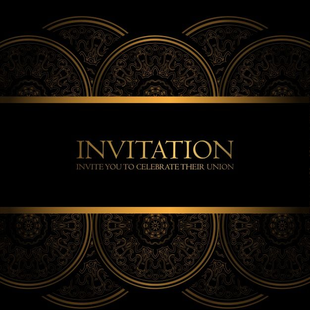 Black and gold invitation free vector art deco pinterest black and gold invitation free vector stopboris Images