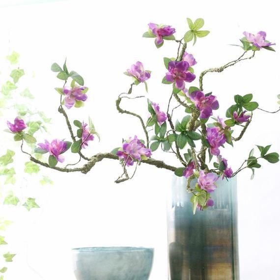 Photo of 10PCS Artificial Flower Rhododendron Fake flower Art Deco Flower Arrangement Restaurant Hotel Store