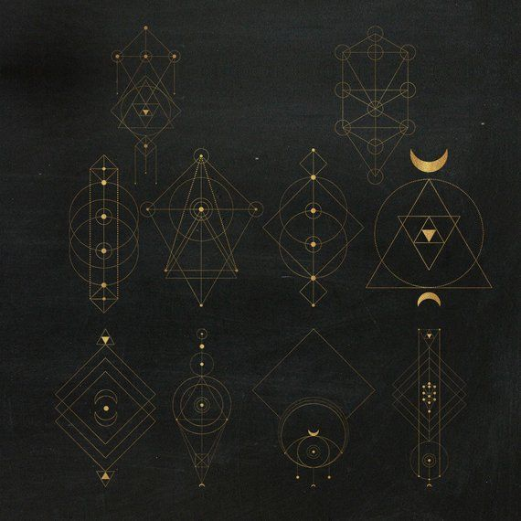 10 Gold Sacred Geometry Totems Clipart Sacred Geometry Clip Etsy Sacred Geometry Tattoo Geometry Art Design Sacred Geometry Art