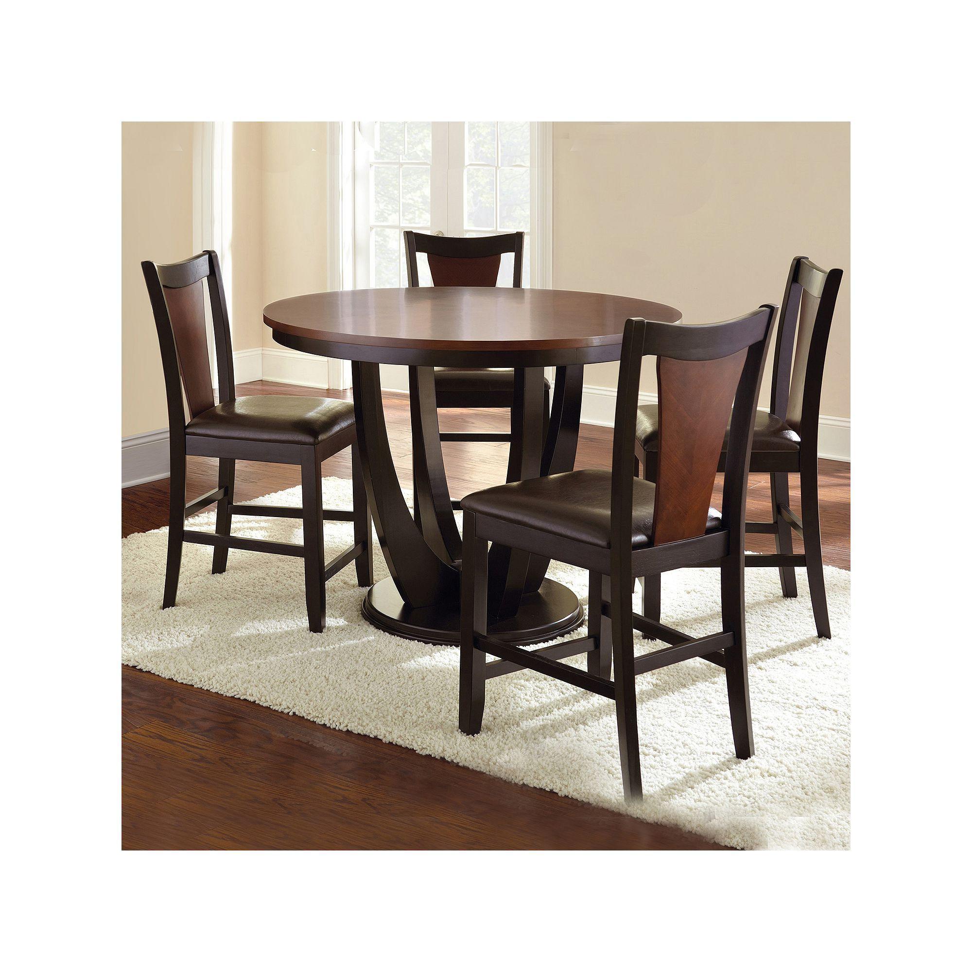 Branton Home Oakton Counter Dining 5 Piece Set Counter Height
