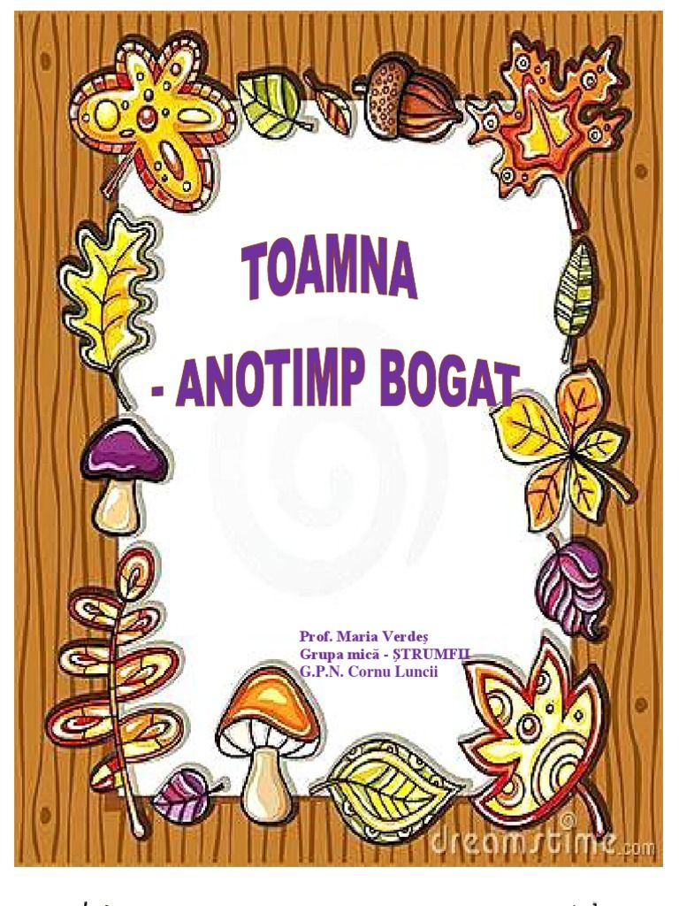PROIECT TEMATIC TOAMNA