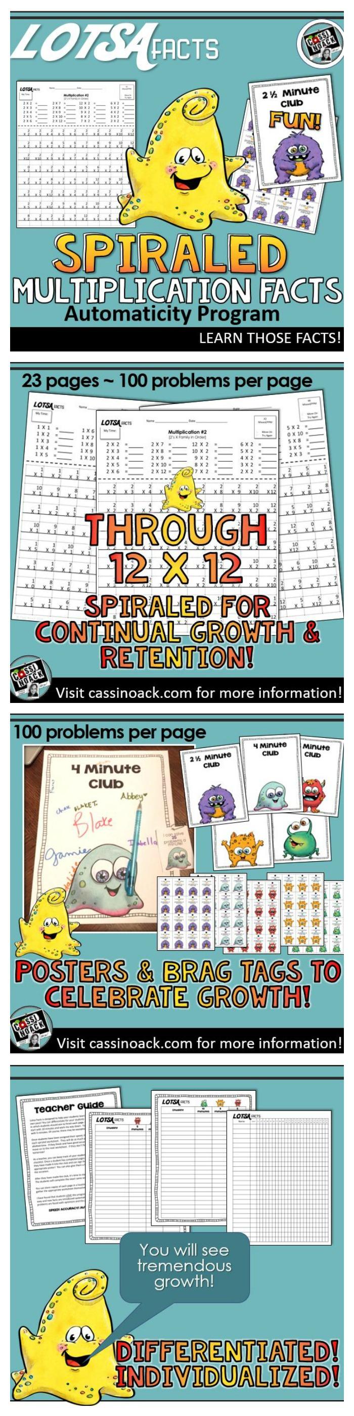 Multiplication Facts * Timed Multiplication Drills | Multiplication ...