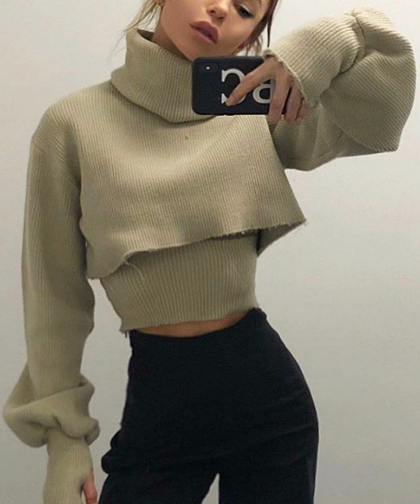 """CHUNKY KNIT SWEATER IN OATMEAL AS SEEN ON @BABS_CONSTANTIN  - O R S E U N D   I R I S on Instagram: """"chunky knit weather 🐻"""""""