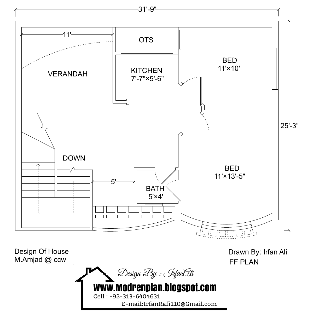 3 marla house plan