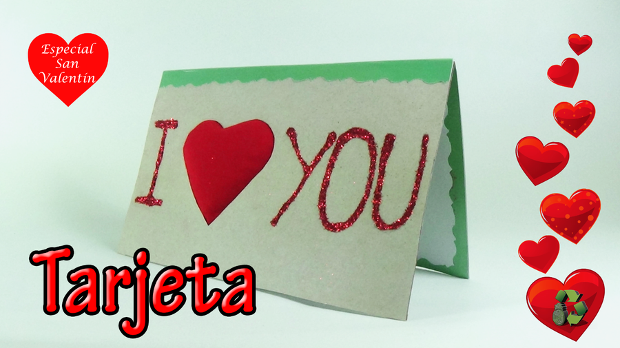 Tarjeta para San Valentín, ¡hazlo tú mismo!