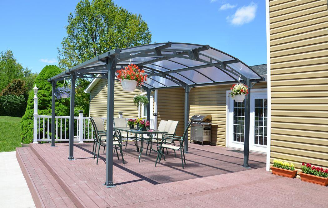 PALRAM Arcadia carport 5000 antracitgrå Køb online på