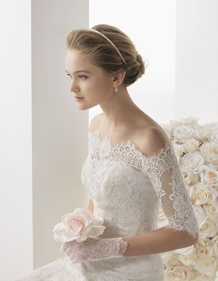 Off the Shoulder Lace Jacket rosa clara | Rosa Clara Bridal: Wedding ...