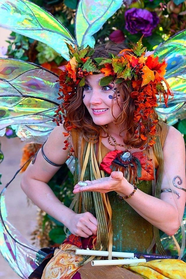 Waldelfe Kostum Fasching Ideen Blumen Coole Accessoires Inspiration