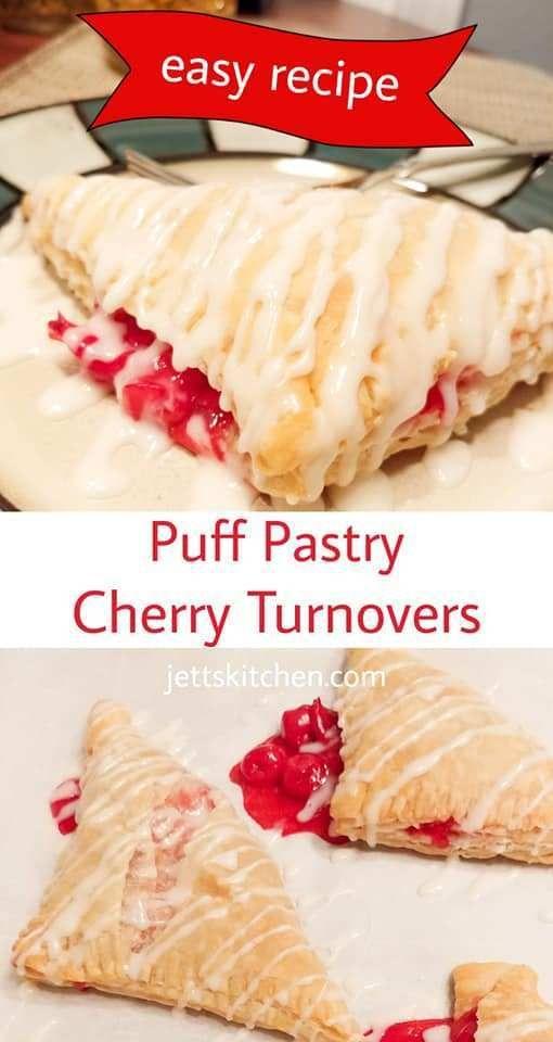 Easy Puff Pastry Cherry Turnover Recipe - Jett's Kitchen