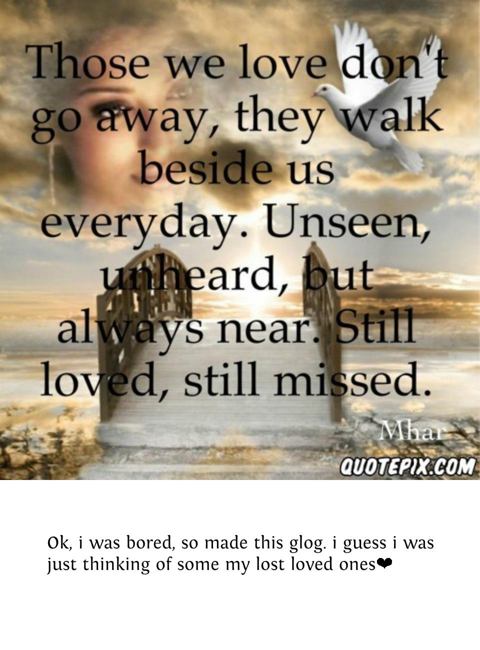 For lost loved ones IN MEMORY Pinterest Lost, In love and Quotes ...