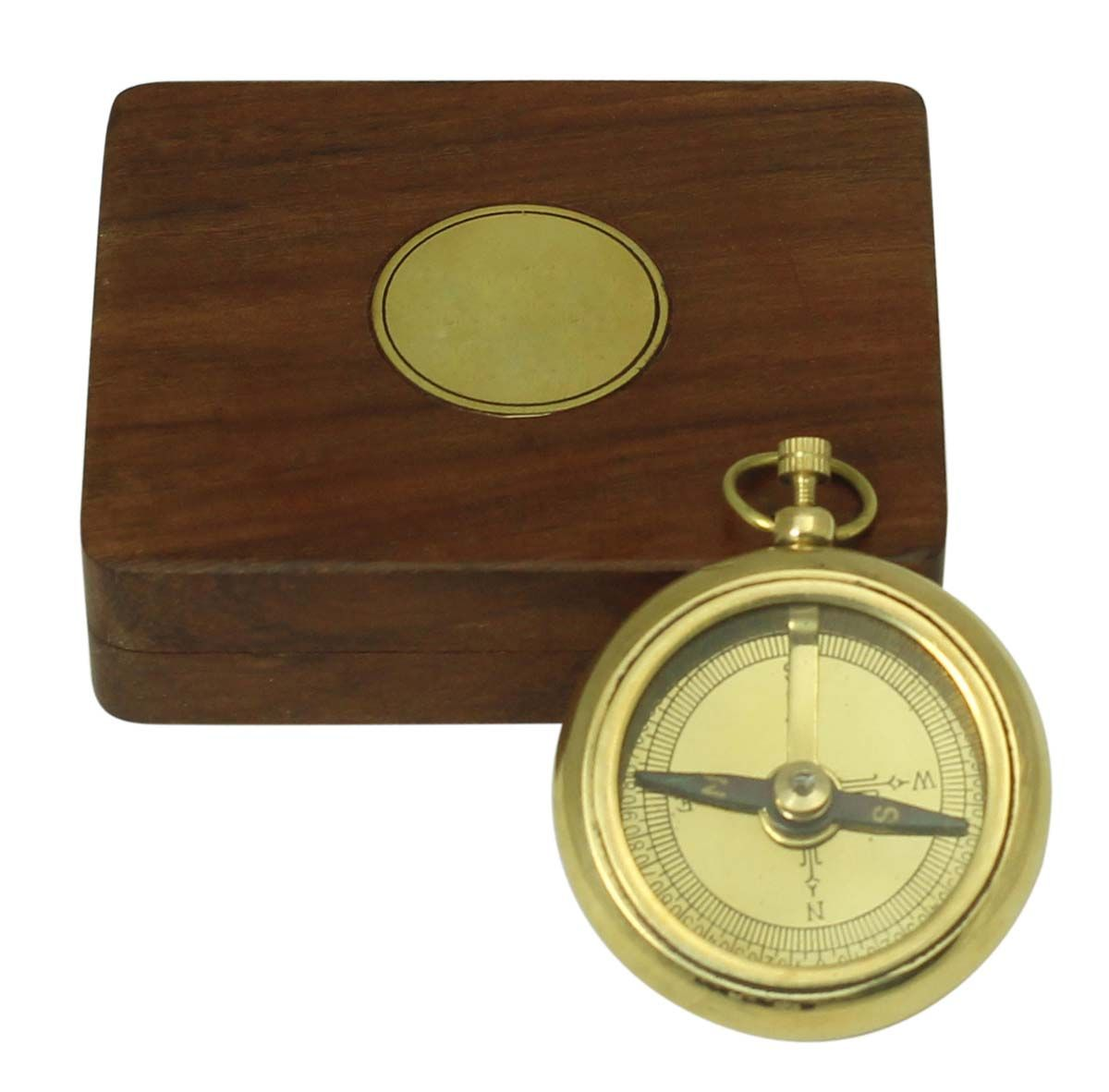 Brass Sundial Compass Solid Brass Pocket Sundial West London With Wooden Box Amazon Co Uk Kitchen Home Wooden Boxes Handcrafted Wooden Box Sundial