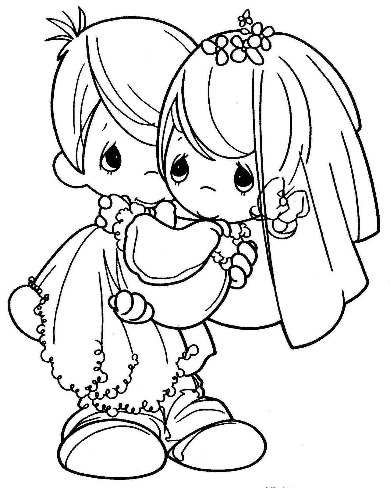 Precious Moments Wedding Coloring Pages Free Coloring Pages Download ...