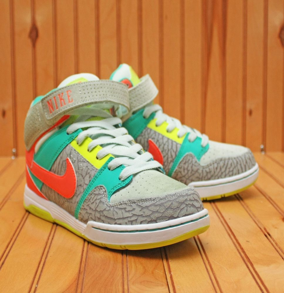 premium selection 3ba3e 2586b 2012 Nike SB Air Mogan Mid 2 Size 8 - Teal Peach Grey White - 407479 364   Nike  BasketballShoes