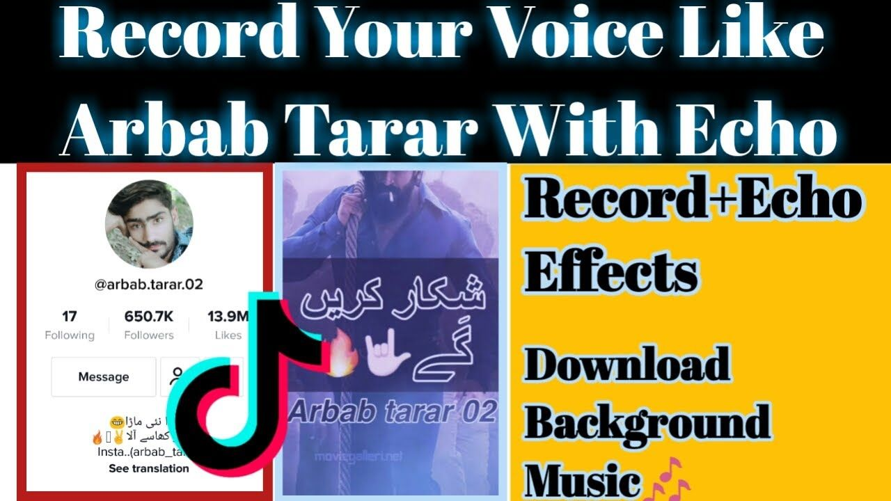 How To Make Arbab Tarar Video In Your Voice For Tiktok With Echo Effects Https Youtu Be H8io4oezv0a The Voice Your Voice Echo