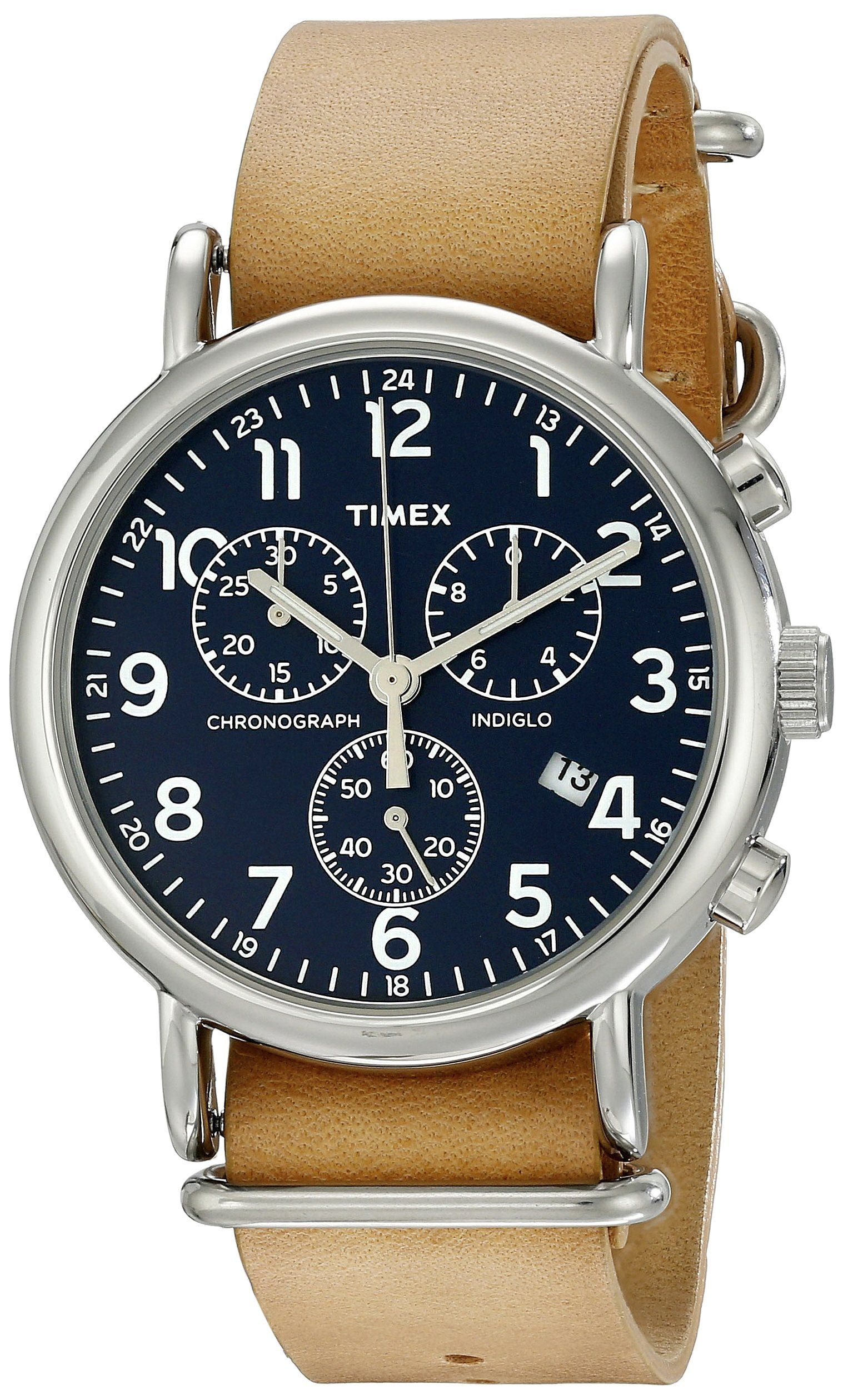 be93477ae Amazon.com: Timex Unisex TW2P624009J Weekender Forty Analog Display Analog  Quartz Blue Watch: Timex: Watches