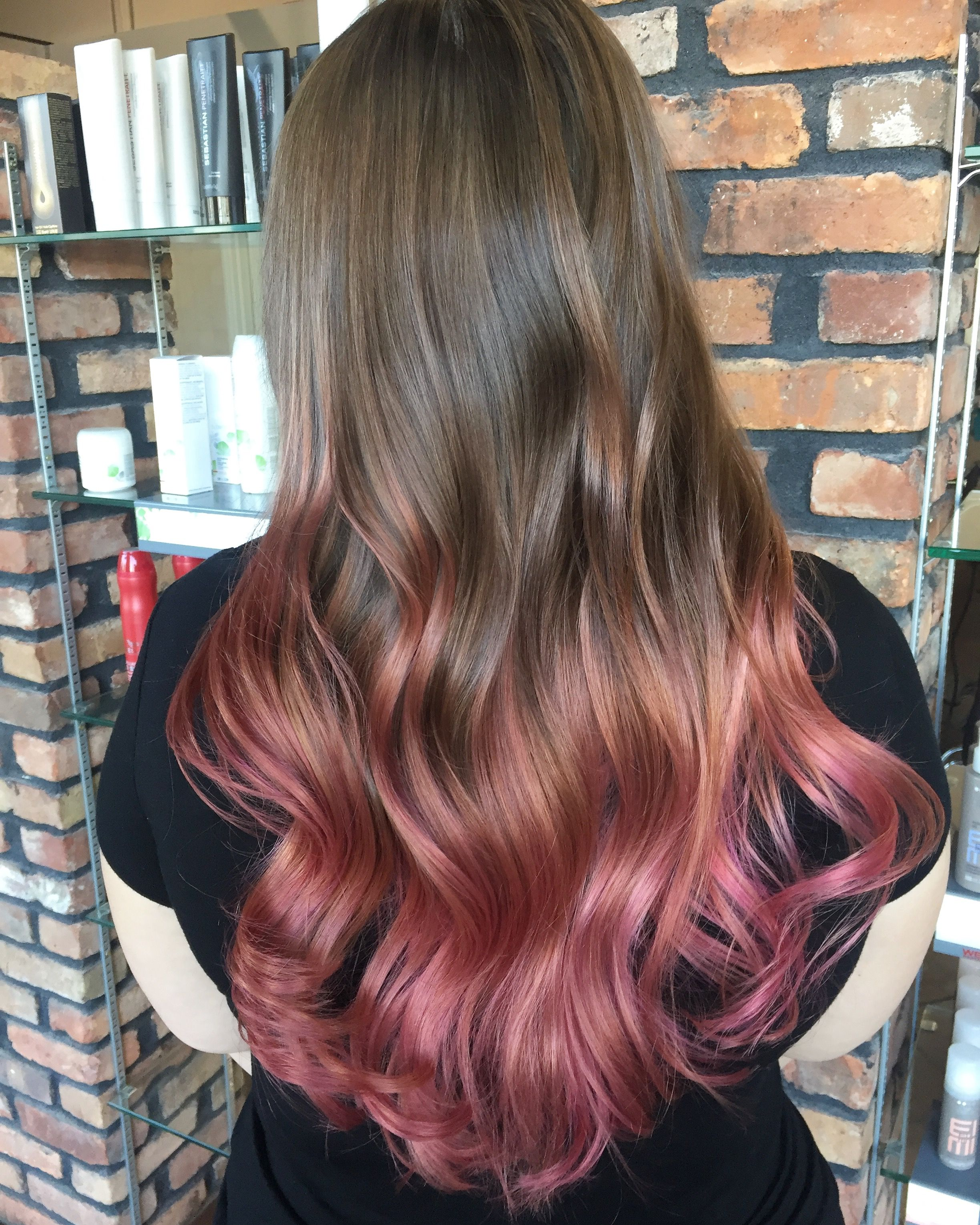Rose gold hair !