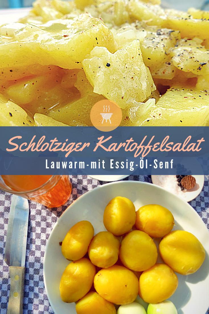 Schlotziger Kartoffelsalat lauwarm