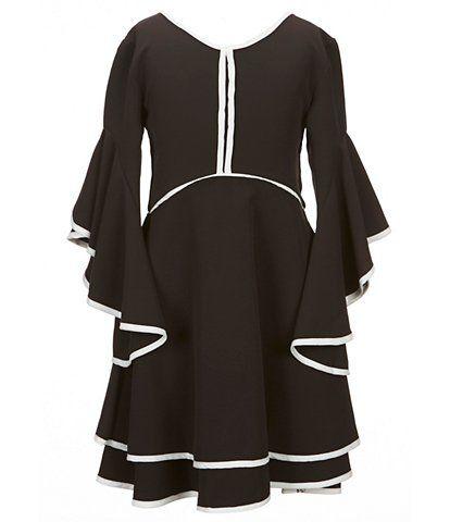 ab90845f9 GB Girls Social Big Girls 7-16 Piped Flutter-Sleeve Dress