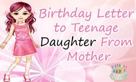 example of sample 16th birthday letter to teenage daughter from mother to wish her and also express your love to her