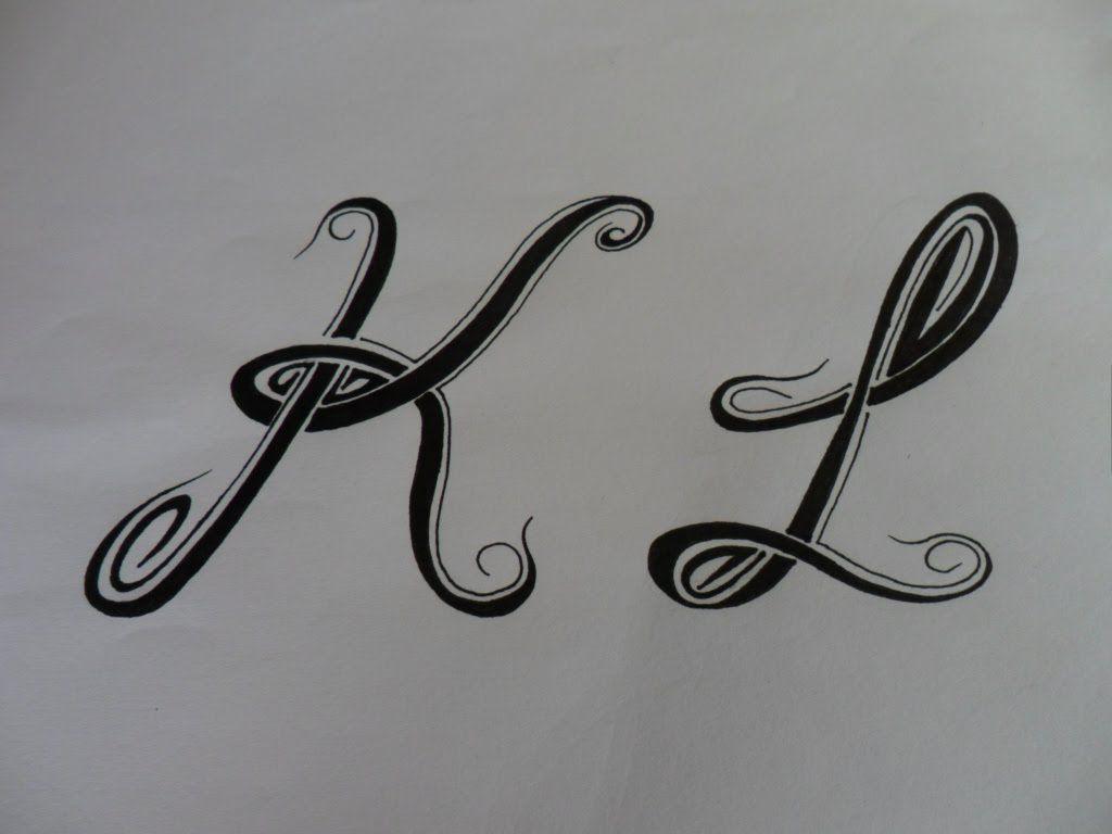 Letras tribales k y l bases elementales para dibujar - Letras para dibujar ...