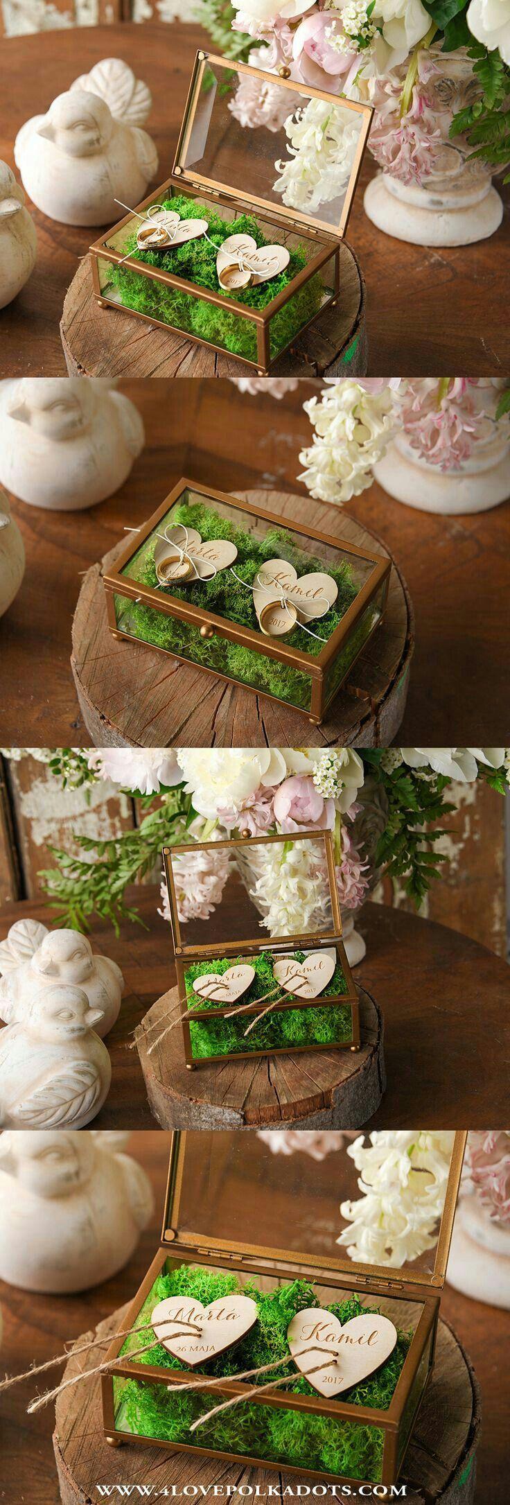 Photo of Fantastic ring box in a trendy geometric design! ❤ #wedding #geometricdesi …