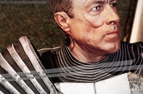 ME Headcanons Tumblr - Zaeed is Earthborn Shepard's father