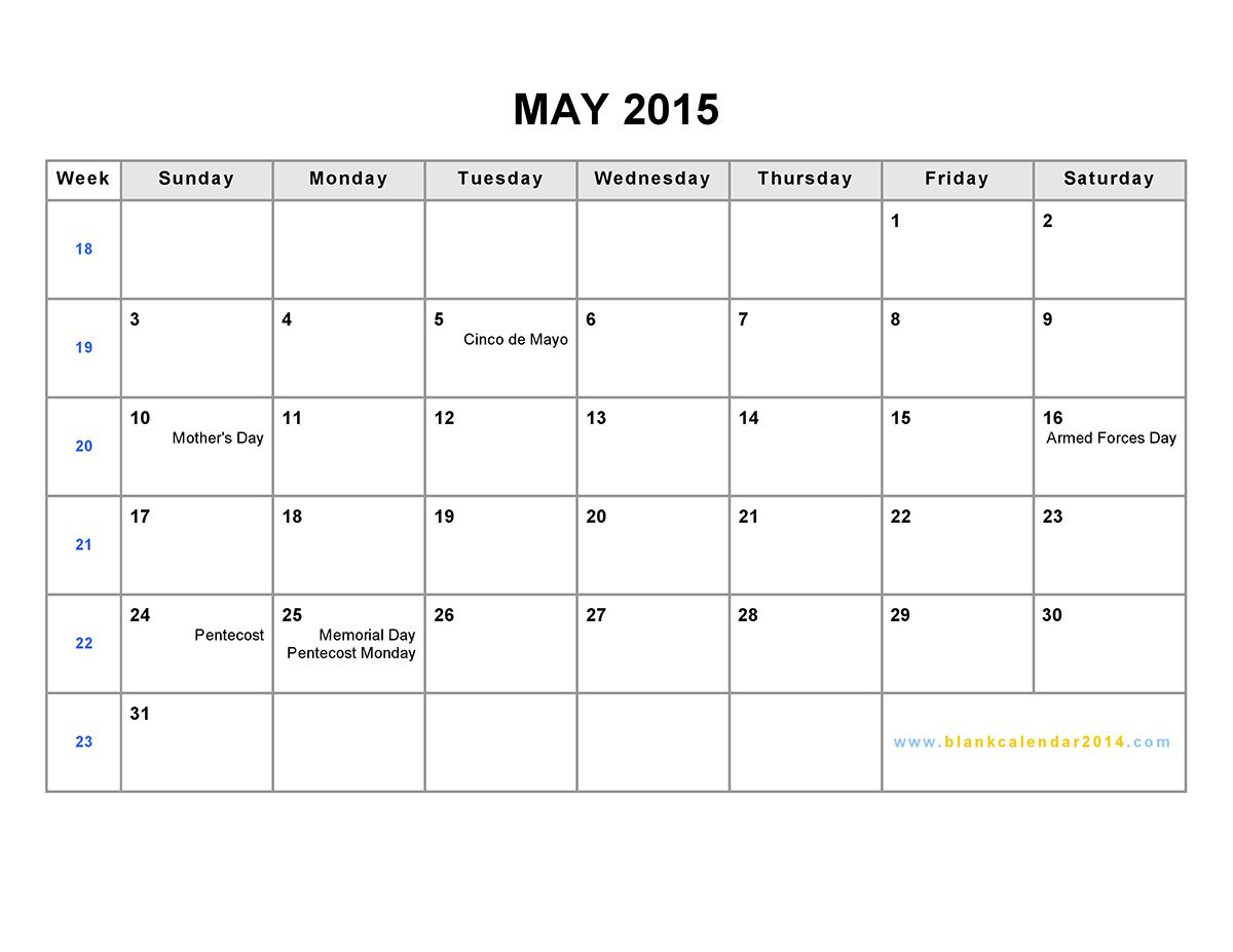 Download 2015 June Calendar Word, Printable Template, Excel, Pdf And Doc.  Also