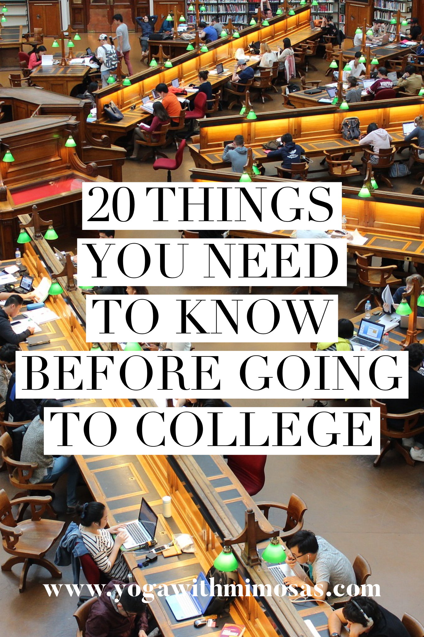 20 Things You Need to Know Before Going to College