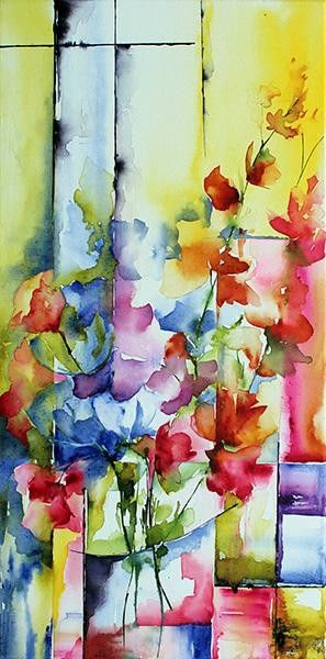 Fleur Trio Aquarelle Virginie Schroeder Art Floral Art De La